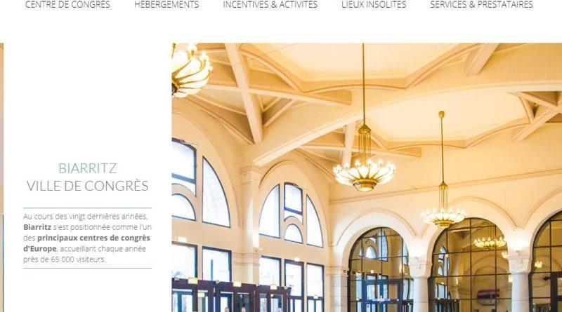 Le site web congres.biarritz.fr a fait peau neuve!