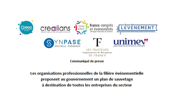 Les organisations professionnelles travaillent à l'élaboration d'un « Protocole sanitaire de la Filière événementielle »