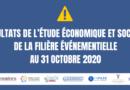Résultats de l'étude économique et sociale de la filière événementielle au 31 octobre 2020