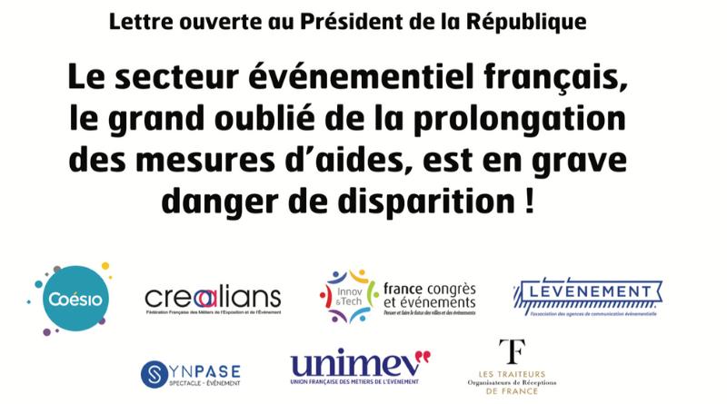 La filière événementielle publie une Lettre ouverte au Président de la République