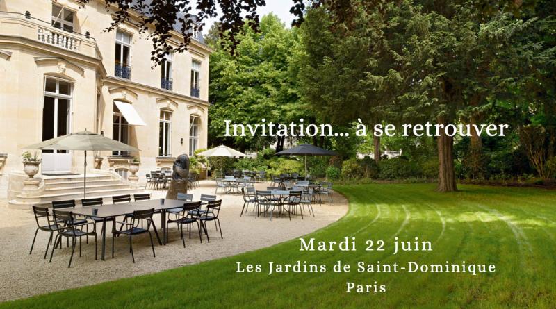 Paris, le 22 juin : le plaisir simple de se retrouver et de partager…