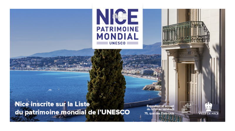 Nice, ville de la villégiature d'hiver de Riviera, inscrite sur la liste du patrimoine mondial de l'Unesco